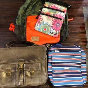 Handbags - Bundle of 3 Bags and 1 Backpack
